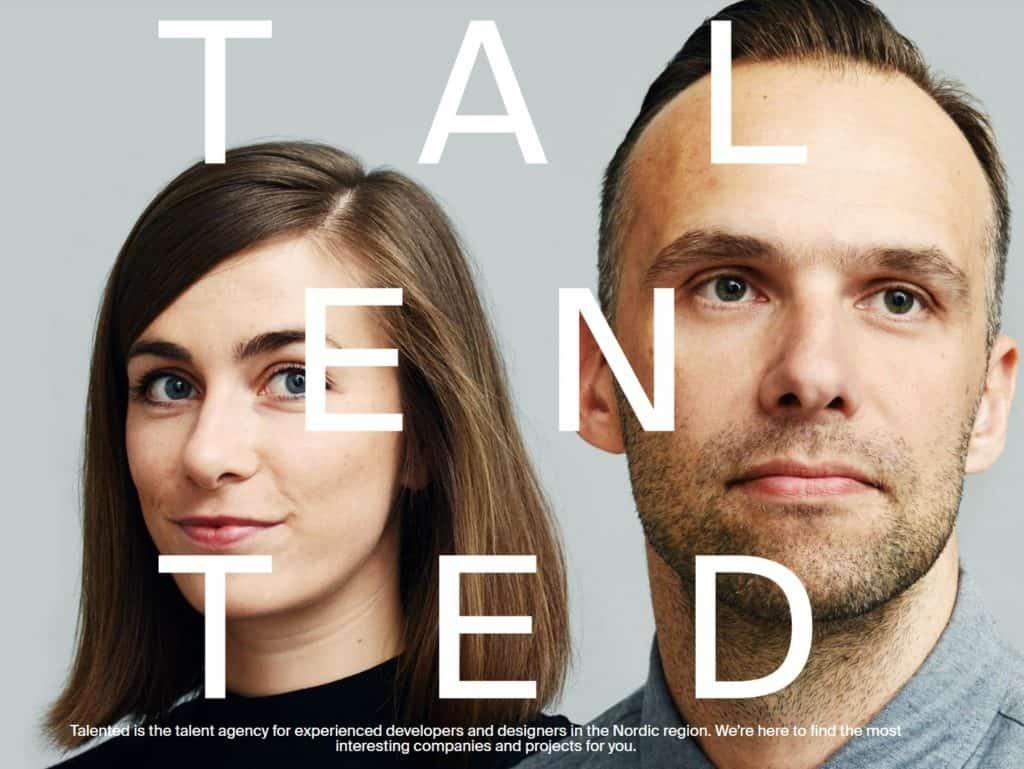 Talented - bilde av mann og kvinne med typografi
